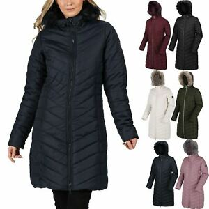 Regatta Women Fritha Jacket Insulated Hooded Long Parka Quilted Padded Coat 8-36