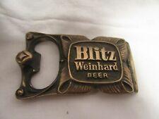 Blitz Weinhard Beer 1976 Metal Bottle Popper Belt Buckle
