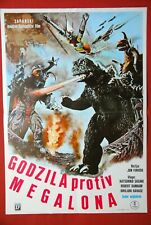 GODZILLA VS MEGALON TOHO JAPAN 1973 SCI-FI RARE EXYUGO MOVIE POSTER