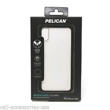 New Pelican Adventurer Dual Layer Slim Protection Case for iPhone X  Clear/Black