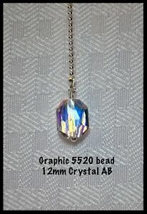 You Choose! Handcrafted Fan Light Pull Made with Genuine Swarovski Silver 1.5mm