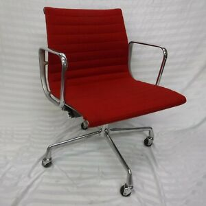 Refurbished Herman Miller Eames Aluminum Group Management Chair  -  RED
