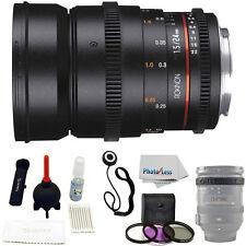 Rokinon 24mm T1.5 Cine DS Lens for Canon EF Mount + UV Polarizer FLD + Lens Cap