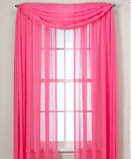 1 pcs FUSHIA HOT PINK Scarf Voile Window Panel Solid sheer valance curtains
