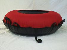 "NEW 44"" Heavy Duty Snow Tube Red/Black SLICK BOTTOM Made in USA"