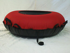 "NEW 44"" Heavy Duty Snow Tube Red/Black SLICK BOTTOM Made in USA"