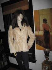 Cream Rabbit Fur Cropped Jacket Bolero - Large