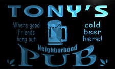 pg103-b Tony's Neighborhood Home Bar Pub Beer Neon Light Sign