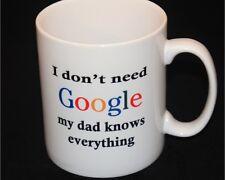 Personalised Mug, Birthday Gift, Google, Dad, all occasions handmade