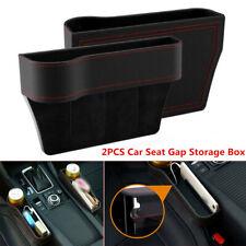 2Pcs Car Seat Gap Storage Box Cup Holder Small Objects Organizer PU Leather L+R
