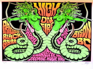 "High On Fire Concert Poster 2010 Greg ""Stainboy"" Reinel"
