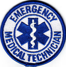 EMERGENCY MEDICAL TECHNICIAN-Iron On Embroidered Patch/Professions. Medic, EMT