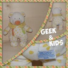 Doudou - Peluche Ours en pyjama Blanc coeur jaune - Gipsy - Ref C21