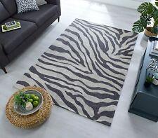 Manhattan Wilder Zebra Design Charcoal & Grey Soft Rug in two sizes