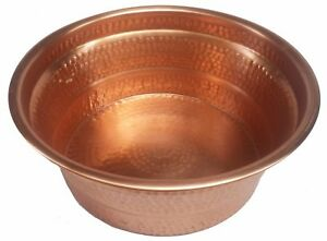Polished Copper Manicure Foot Hand Soak Massage Spa Therapy Kids Pedicure Bowl