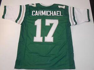 UNSIGNED CUSTOM Sewn Stitched Harold Carmichael Green Jersey - M, L, XL, 2XL 3XL