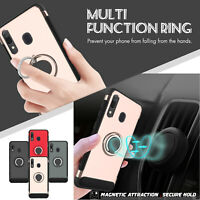 For Samsung Galaxy A50 A30 A20 Case Ring Holder Stand Cover + Car Air Vent Mount