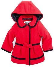 London Fog Infant Girls Red Faux Wool Coat Size 18M