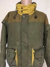 VTG 90s URBAN EQUIPMENT ARMY GREEN JACKET Gold Lining HOOD XL STREETWEAR