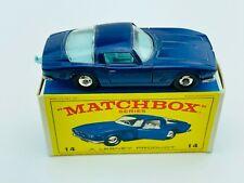 Vintage MATCHBOX LESNEY #14 ISO GRIFO Blue Regular Wheel MINT IN BOX !