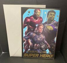 Avengers Birthday Greeting Card w/Envelope Hallmark New