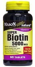 Mason Natural Super Biotin 5000 mcg, Softgels 60 ea