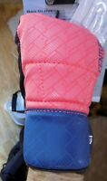 CENTURY Training WOMEN'S BRAVE BAG GLOVES NWT mesh palm open fingers peach/navy
