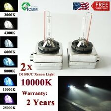 D1S 10000K HID Xenon Headlight Light bulbs 1 Pair OEM Direct Replacement 35W New