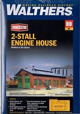 HO Scale Walthers Cornerstone 933-3007 2-Stall Enginehouse Building Kit