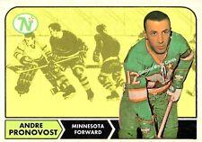 Custom made Topps  1968-69 Minnesota North Stars Andre Pronovost  hockey card
