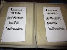 Survival Armor (2) Level IIIA 3A 6X8 Trauma Pads Plates Kevlar