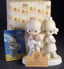 Prescious Moments Figurine - Rejoicing With You with box, tag and pamphlet