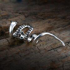 Men Women Punk Gothic Ear Cuff 925 Sterling Silver Single Earring No Piercing