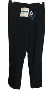 🔴NWT FootJoy FJ DRYJOYS Women's Size Large BLACK Waterproof Rain Pants