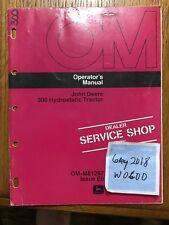 John Deere 300 Tractor Omm81297 Operators manual book