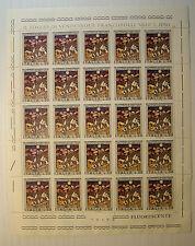 1974 ITALIA  50 lire  Vite e Vino   foglio intero  MNH**