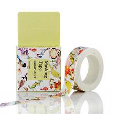 Bird owl 15mm×10M paper Sticky Adhesive Sticker Decorative masking Washi Tape