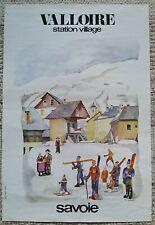 Alpes Valloire Maurienne ski, Guy Ameye - Affiche ancienne/original poster 1973