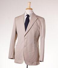NWT $2495 BELVEST Solid Tan Two-Button Cotton Suit 40 R (Eu 50) Modern-Fit