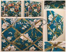 Waverly Magnolia Floral French Memo Board Farmhouse Fabric Memo Board Organizer