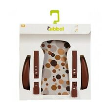 "Qibbel Rear Bicycle Child Seat Cushion/Armrest Styling Set ""BROWN DOTS"" Pattern"