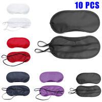 10PCS Blindfold Sleep Eye Mask Travel Shade Blinder Eyeshade Sleeping Rest Aid