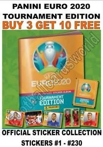 PANINI EURO 2020 TOURNAMENT EDITION STICKER COLLECTION - #1 - #230