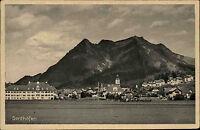 Sonthofen Bayern Oberallgäu AK 1926 Grünten Kirche Panorama gelaufen frankiert