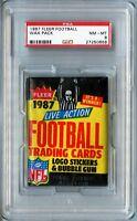 1987 Fleer Football PSA 8 wax pack
