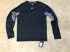 UNDER ARMOUR COLDGEAR FITTED TRAINING SHIRT BLACK/GRAY SZ XL NWT