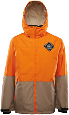 2017 NWOT MENS THIRTYTWO SHILOH INSULATED SNOWBOARD JACKET $200 XL Orange/Tan