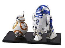 STAR WARS BB-8 & R2-D2 1/12 SCALE PLASTIC MODEL KIT F/S .