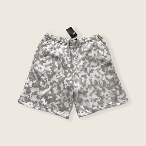 Nike Camo Fleece Shorts Men's SZ 3XL Summit White DA0057-121 NWT