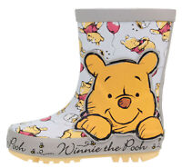 Disney Winnie The Pooh Girls Wellies Wellington Boots Waterproof Child UK 5-10